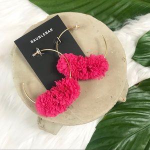 {Bauble Bar} Sancia Pink Hoop Earrings